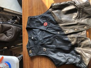 Leather motorcycle vest for Sale in Thornton, CO
