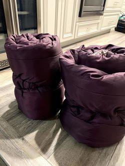 Two Coleman Maroon/Purple Sleeping Bags for Sale in Long Beach,  CA