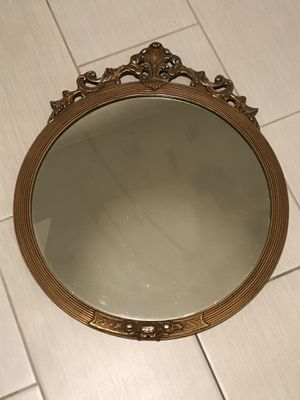 Antique gold round mirror for Sale in Seattle, WA