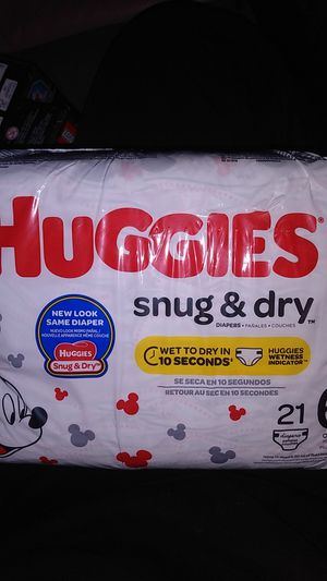 $20 for three Huggies size 6 snug and dry for Sale in Tacoma, WA