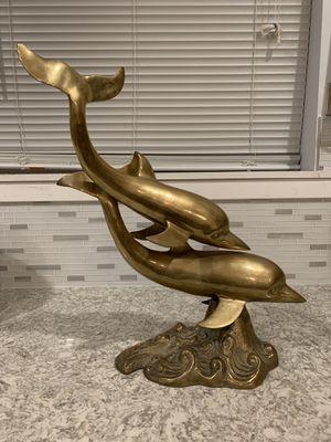 Brass dolphin statue for Sale in Skokie, IL