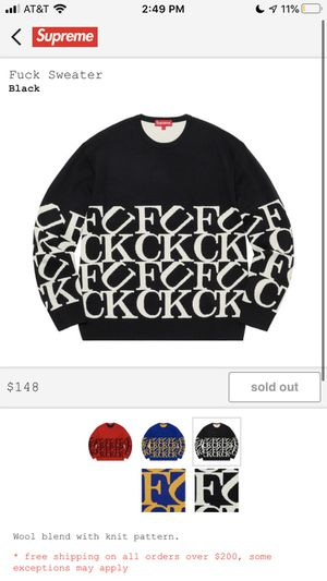 Supreme f*ck Sweater for Sale in Pembroke Pines, FL