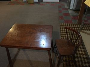 Child's work table with one chair for Sale in Pittsburgh, PA