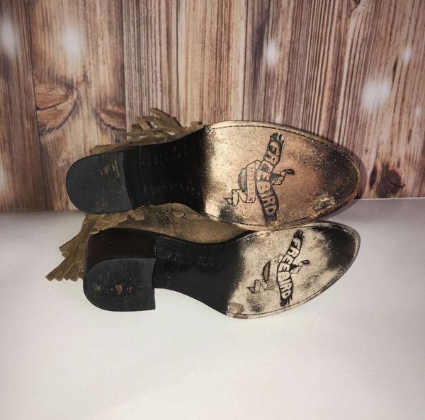 Freebird by Steven Size 7 Leather Fringe Booties