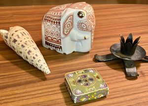 Grounding Tibetan / Indian Set Incense Burner Candle Holder Shell Elephant for Sale in Orange, CA