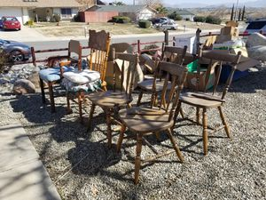 Chairs mixed styles for Sale in Victorville, CA
