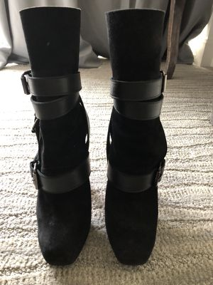 Christian Louboutin Guerriere 120 Black Suede High Heel Lady Fashion Alti Red Platform Ankel Boot size 6 for Sale in Scottsdale, AZ