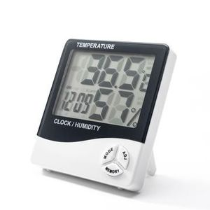 Large display digital clock with temperature and humidity sensor + alarm for Sale in Oxford, NC