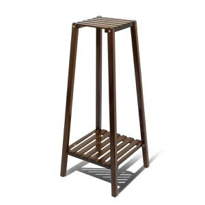 Portable Plant Stand Bamboo Display Shelf for Sale in Fontana, CA