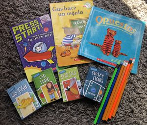 New Book, card games for kids to learn, and new pencils for Sale in El Monte, CA