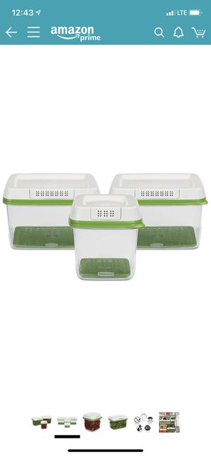 Rubbermaid FreshWorks Produce Saver Food Storage Container for Sale in Arcadia, CA