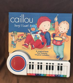 Kids Musical Caillou Book/Keyboard-New Batteries for Sale in Ashburn, VA