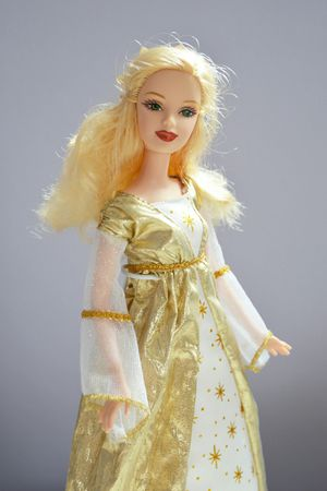 Barbie Doll Holiday Angel Gold White Goen Dress 2005 for Sale in Chicago, IL