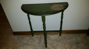 Antique Half Moon Shaped Small Green Spindle Leg Table for Sale in Travelers Rest, SC