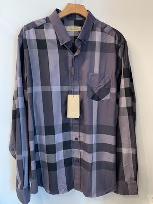Brand New Burberry Men's Shirt Grey for Sale in Los Angeles, CA