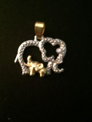 Vintage elephants pendant gold filled for Sale in Miami, FL