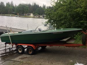 Heavy duty tandem axle boat trailer (boat not for sale) for Sale in Stanwood, WA