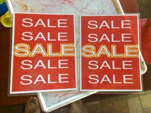 Sale sign 8x 11 free for Sale in La Mesa, CA