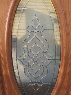 Wood door with glass for Sale in Cleveland, OH