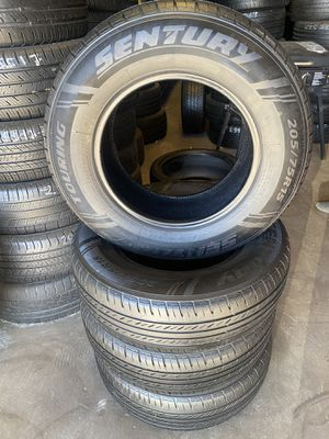 Set tires good condition 205 75 15. 9520. C ave hesperia el jefe tire shop open Sunday for Sale in Hesperia, CA