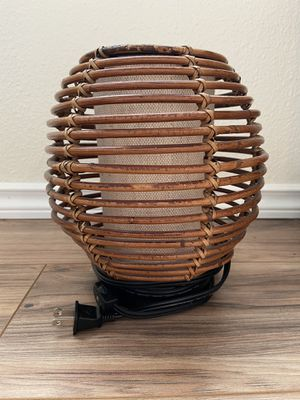 FREE Rattan & Canvas Lamp for Sale in Vancouver, WA