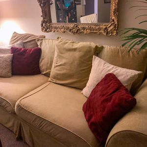 Beige Velvet Comfy Couch for Sale in San Diego, CA