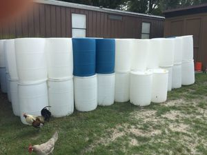 55 gallon barrels - food grade for Sale in Land O' Lakes, FL