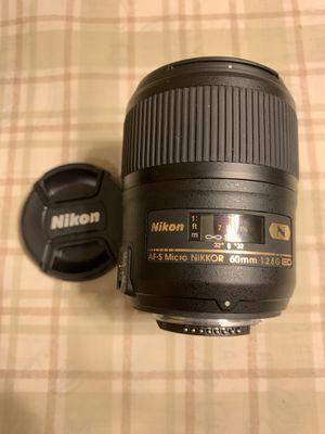 Nikon AF-S Micro NIKKOR 60mm for Sale in Buena Park, CA