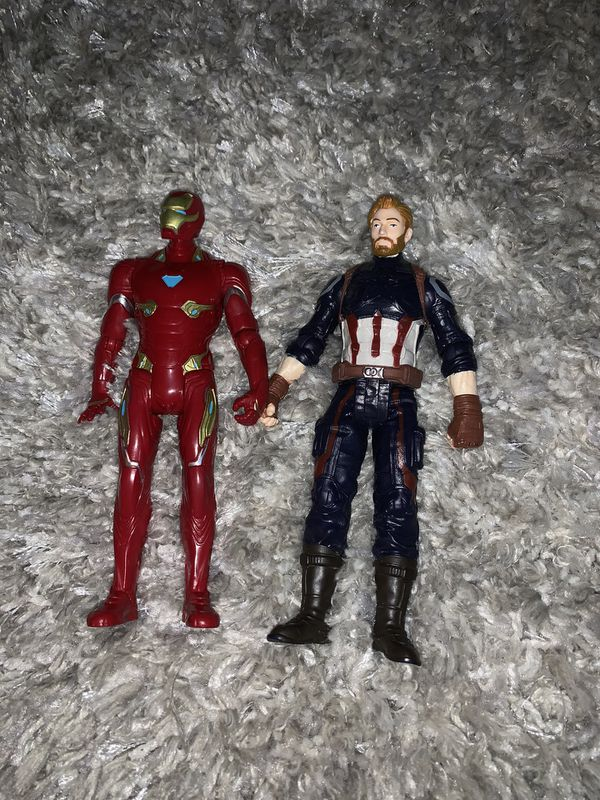 Iron man and Captain America action figures