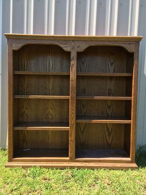 Oak book case wall shelves 48 47 12 for Sale in Oakdale, CA