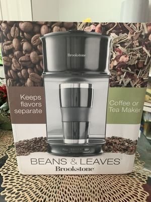 BrookStone Beans &Leaves Coffee or Tea Maker for Sale in Hanover Park, IL