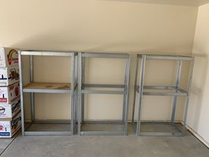 3 metal shelves for Sale in Tulare, CA