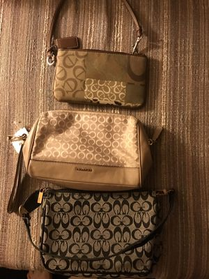 Three coach purse bags never used new for Sale in Philadelphia, PA