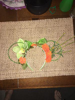 Green & Orange wire floral Disney Ears for Sale in Riverside, CA