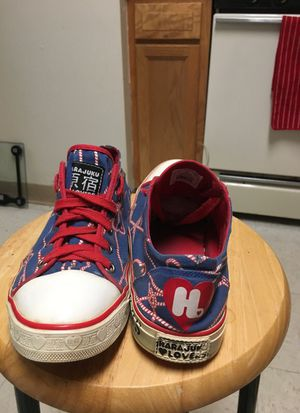 Blue/white/red L.A.M.B converse for Sale in Annandale, VA