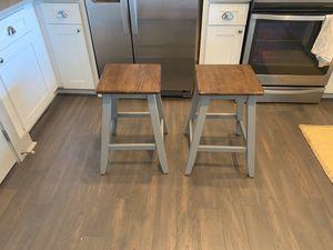 2 Short Barstools 24in tall for Sale in Falls Church, VA