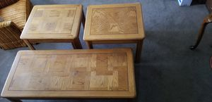 "4'5"" x 23"" coffee table and 2 matching 23"" x 27"" end tables for Sale in Lynnwood, WA"