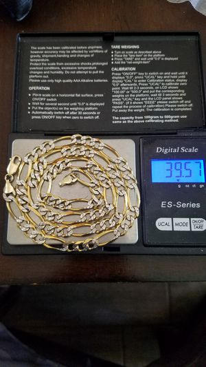 14k new real gold solid cut diamond italy chain 39.57 grams . 24 inches long . 7.5mm. firm price. firm price for Sale in Phoenix, AZ