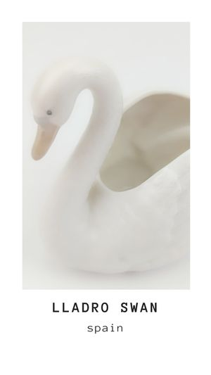 Vintage NAO Lladro Cisme Mediano Swan # 221 in Box Figurine of Spain for Sale in Orange, CA