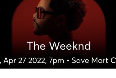The Weekend Tickets (lower Level) for Sale in Fresno,  CA