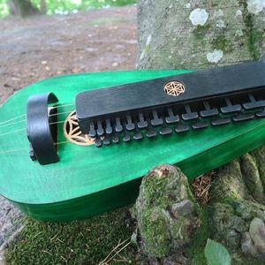 Fairy Green Hurdy Gurdy, Tear-Shaped / wherl lyre / vielle a roue / drehleier for Sale in Los Angeles, CA