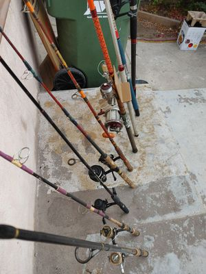 Fishing rods with reels in great condition. Different prices,,sizes,,brands for Sale in Alhambra, CA