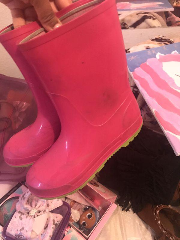 Little girl rain boots