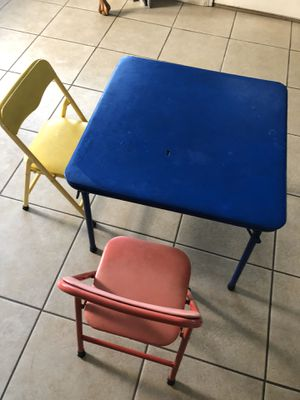 Kids table and 2 chairs for Sale in Livermore, CA
