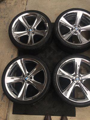 23 inch Chrome rims 4 rims with tires for Sale in Alexandria, VA