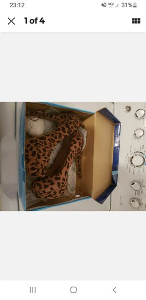 Leopard size 9 heel like new for Sale in South Plainfield, NJ