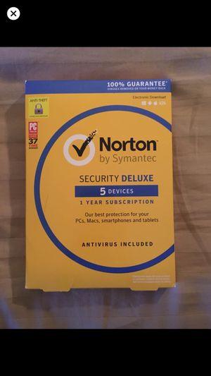 Norton Security Deluxe for Sale in Old Bridge, NJ