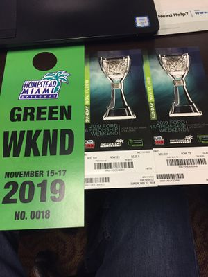 Nascar Homestead Championship 2 Tickets for Sale in Plantation, FL