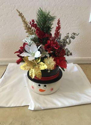 Snowman floral arrangement for Sale in Surprise, AZ