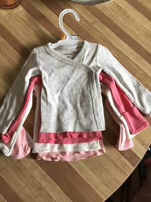 Newborn Baby Girl Carter Clothes Long Sleeve Shirt for Sale in Takoma Park, MD